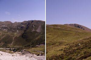 Les montagnes dans le Sud du Tyrol (Merano, Falzeben)