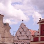 Les toits de Tabor en République Tchèque