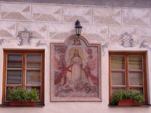Peinture sur façade à Tabor