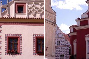 Les jolies façades tchèques