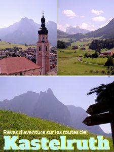 Rêves d'aventure sur les routes de Kastelturh (Castlerotto) dans le Tyrol du Sud en Italie