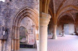 Détails de l'architecture de l'abbaye d'Orval