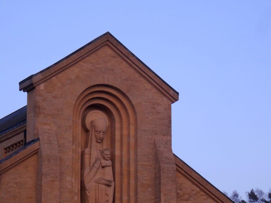 La vierge de l'abbaye d'Orval