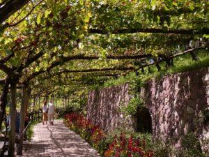 Passage à l'ombre non loin du château de Trauttmansdorff