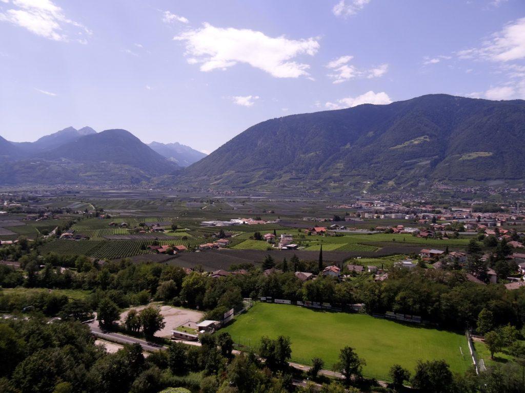 La plaine de Merano et ses montagnes
