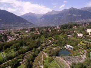 Vue sur Merano et ses montagnes