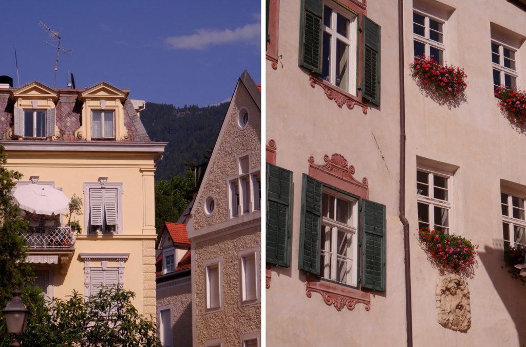 Jolie façade de Merano en Italie