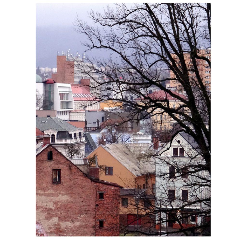 Les toits de Liberec en République Tchèque