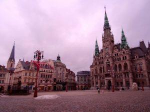 L'hôtel de ville à Liberec en République Tchèque