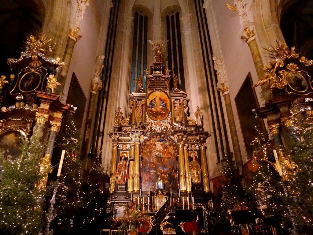 Concert du nouvel an dans l'église de Notre-Dame de Týn à Prague en République Tchèque