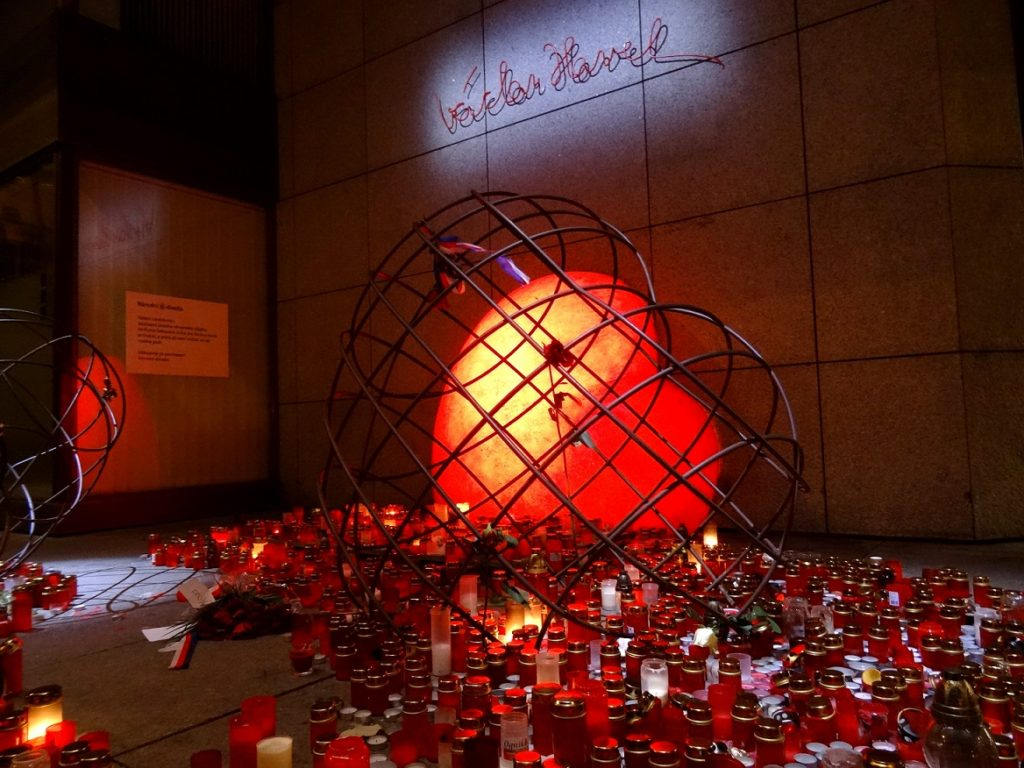 mémorial dédié à Václav Havel à Prague