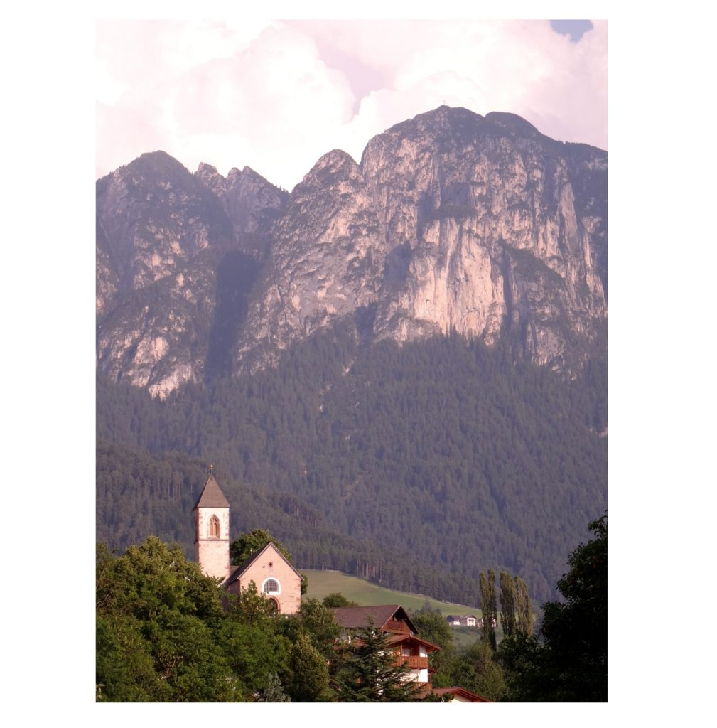 Montagne Schlern dans le Tyrol du Sud en Italie