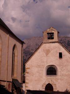 Le centre du village de Völs am Schlern (