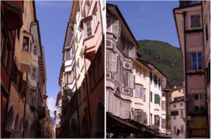 Façades colorées de Bolzano
