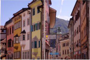 Les façades colorées de Bozen