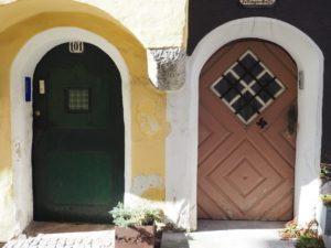 Portes colorées de Gmunden en Autriche