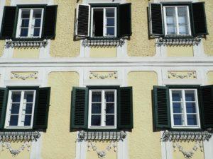 Façade colorée à Gmunden