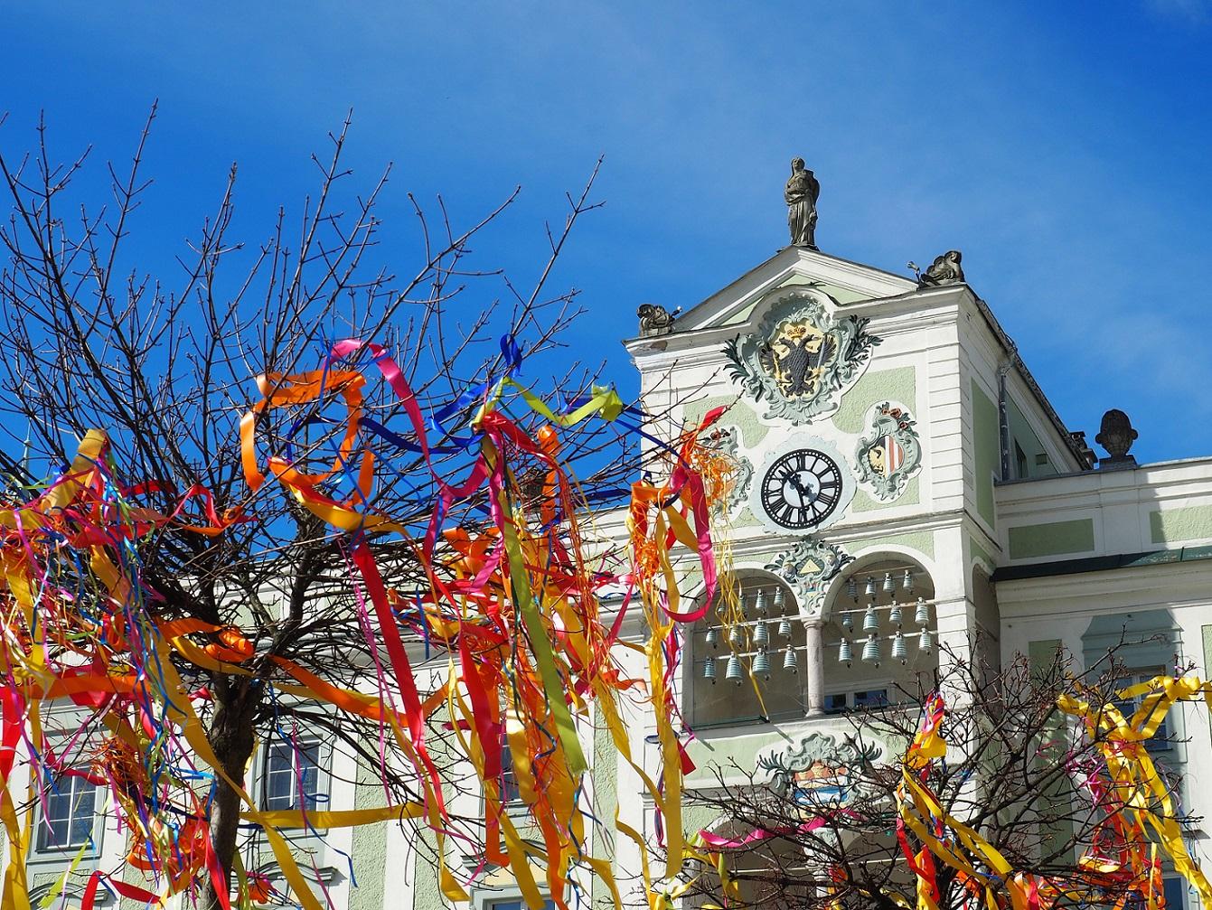 Rathausplatz à Gmunden en Haute Autriche