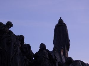 Jan Hus monument, Old town Square Prague