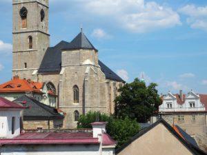 Vue sur le centre ville de Kutná Hora