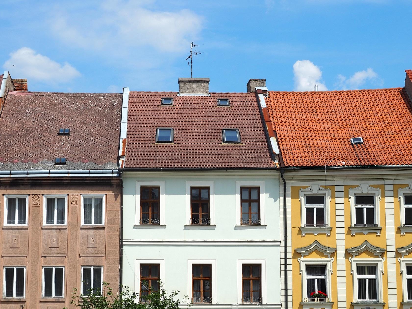 Façades colorées à Kutná Hora