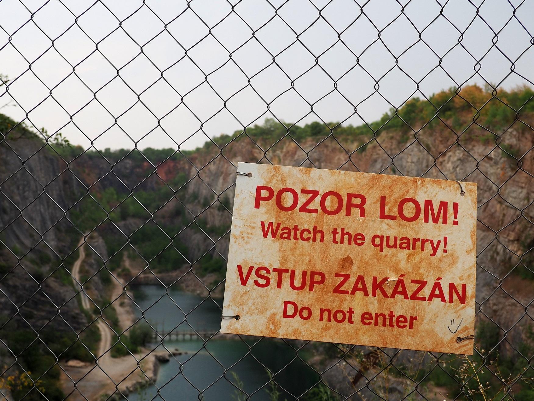 Accès interdit à Velka Amerika non loin de Prague