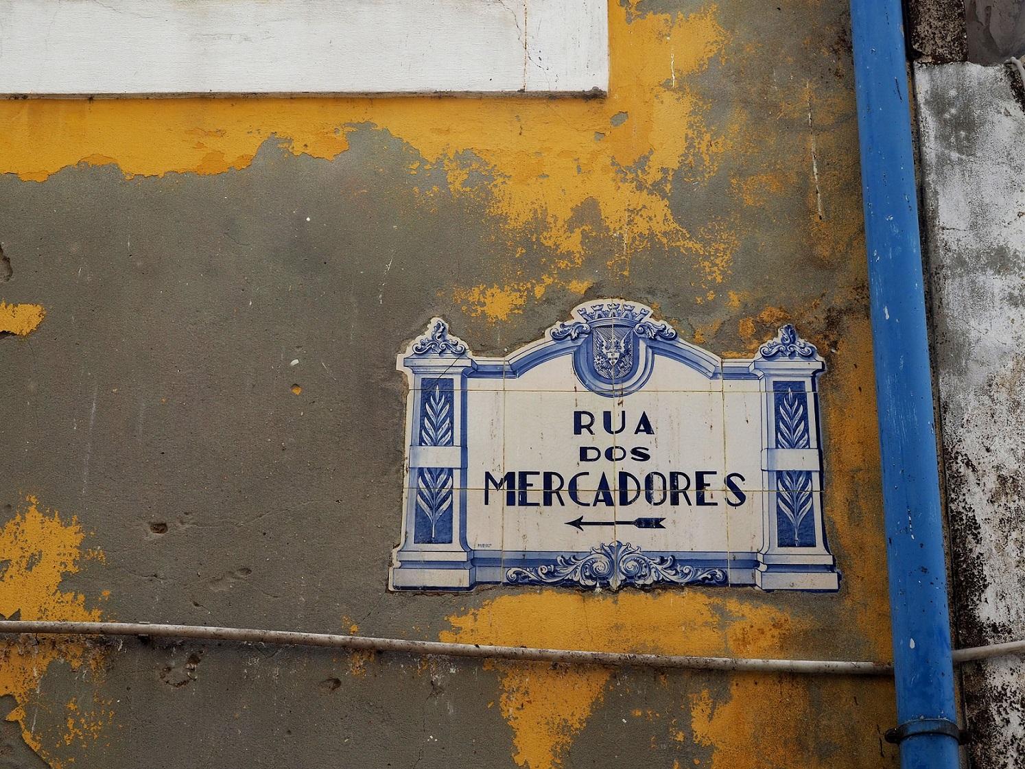 Rua des Mercadores à Aveiro au Portugal