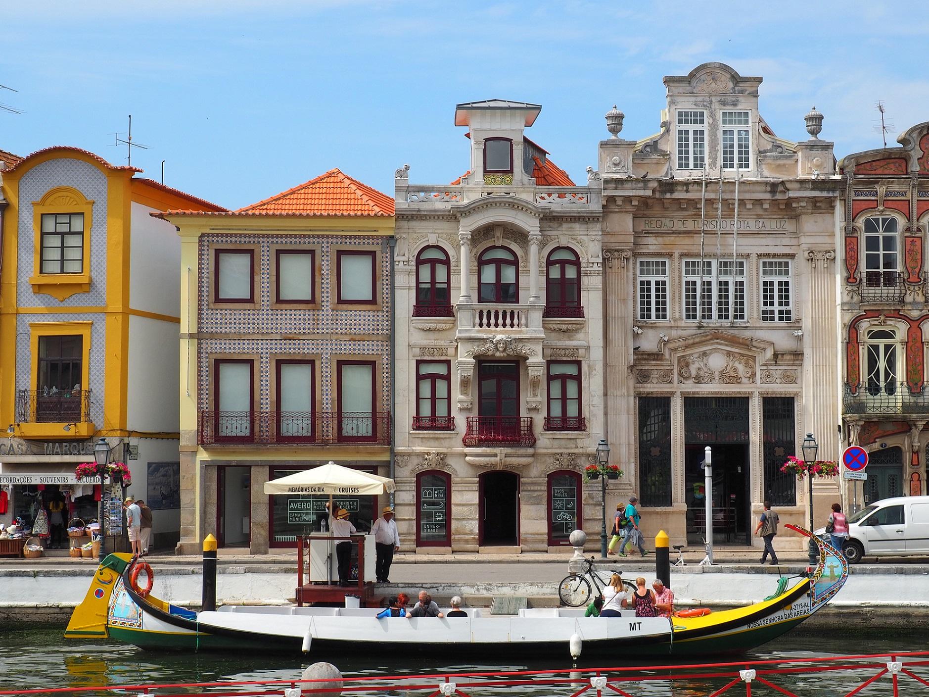 Les couleurs d'Aveiro au Portugal