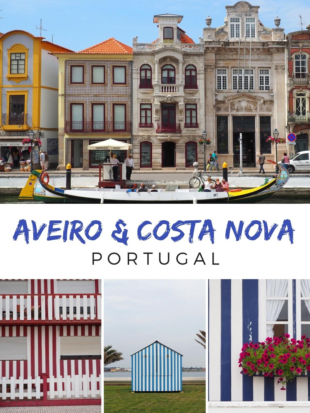 Les couleurs d'Aveiro et Costa Nova au Portugal