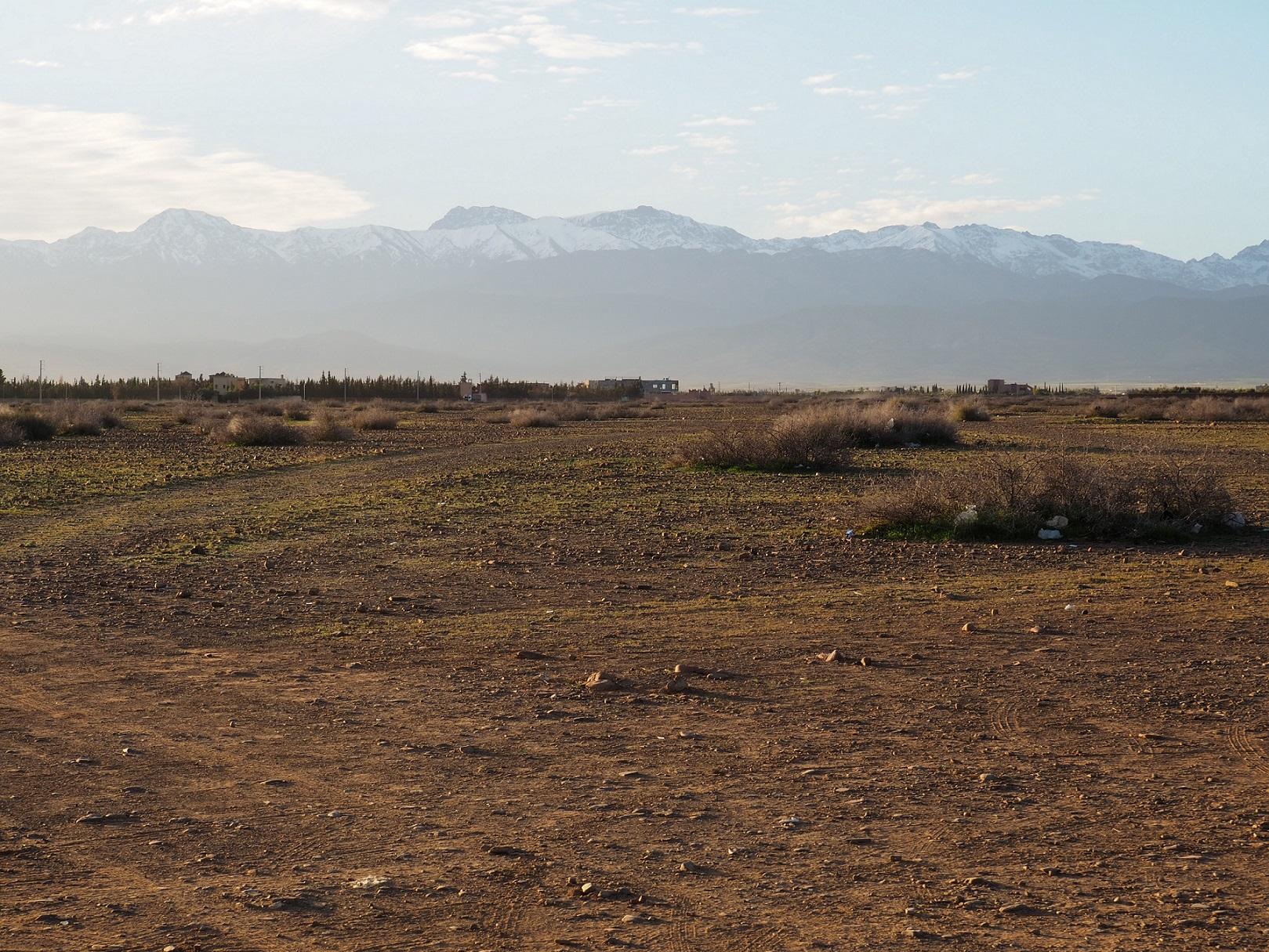 Vue sur le Haut-Atlas non loin de Marrakech