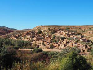 Village berbère de Tahnaout au Maroc non loin de Marrakech