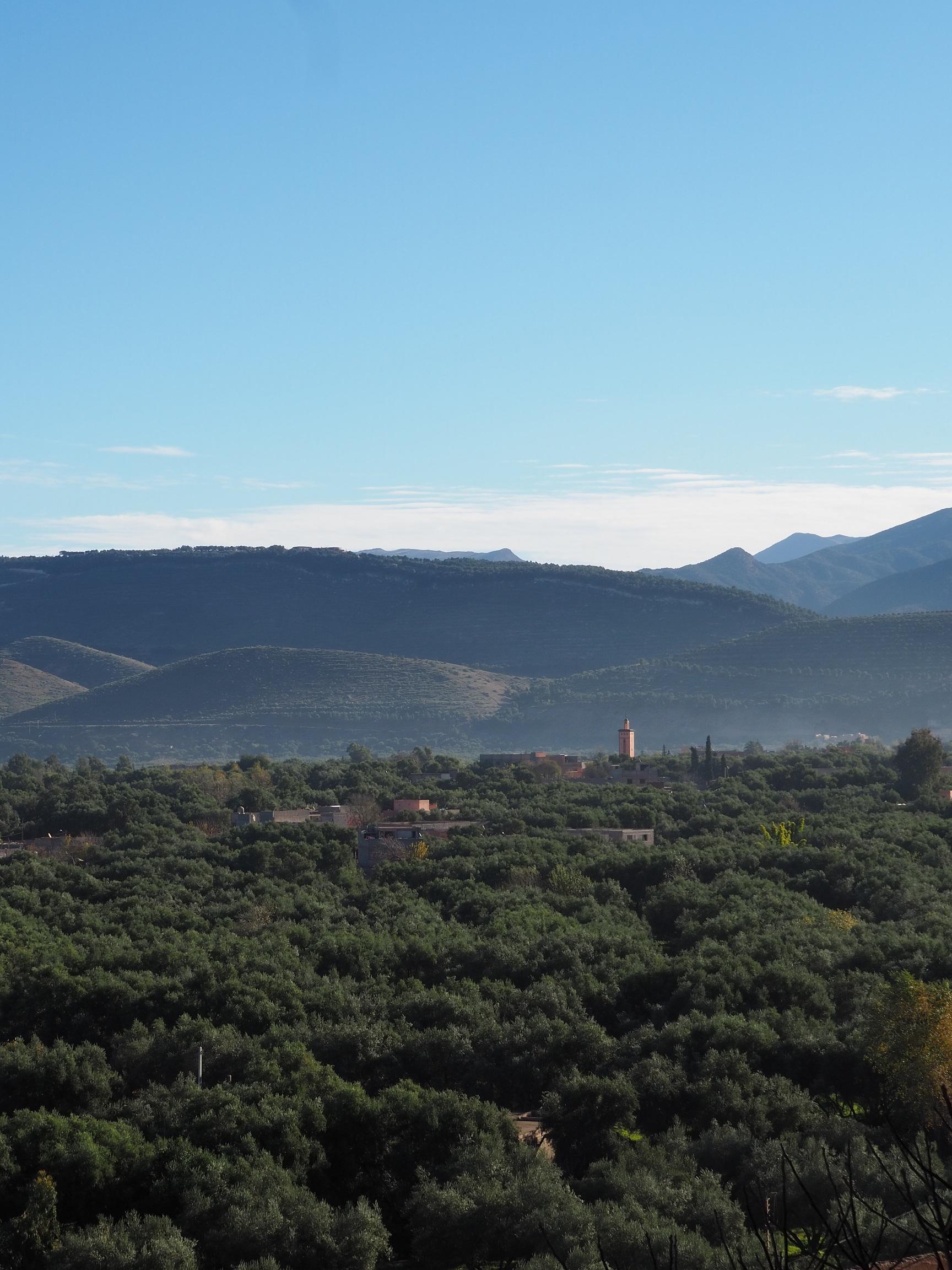 Vue sur la vallée de l'Ourika