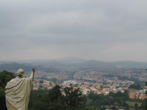 Vue sur Braga depuis le sanctuaire Bom Jesus