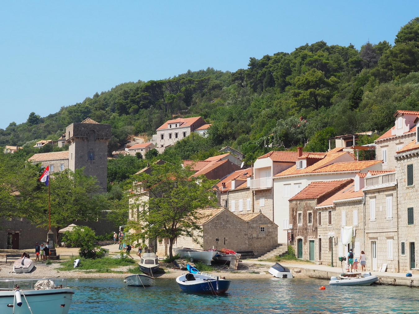 Croisière sur l'île Šipan à côté de Dubrovnik