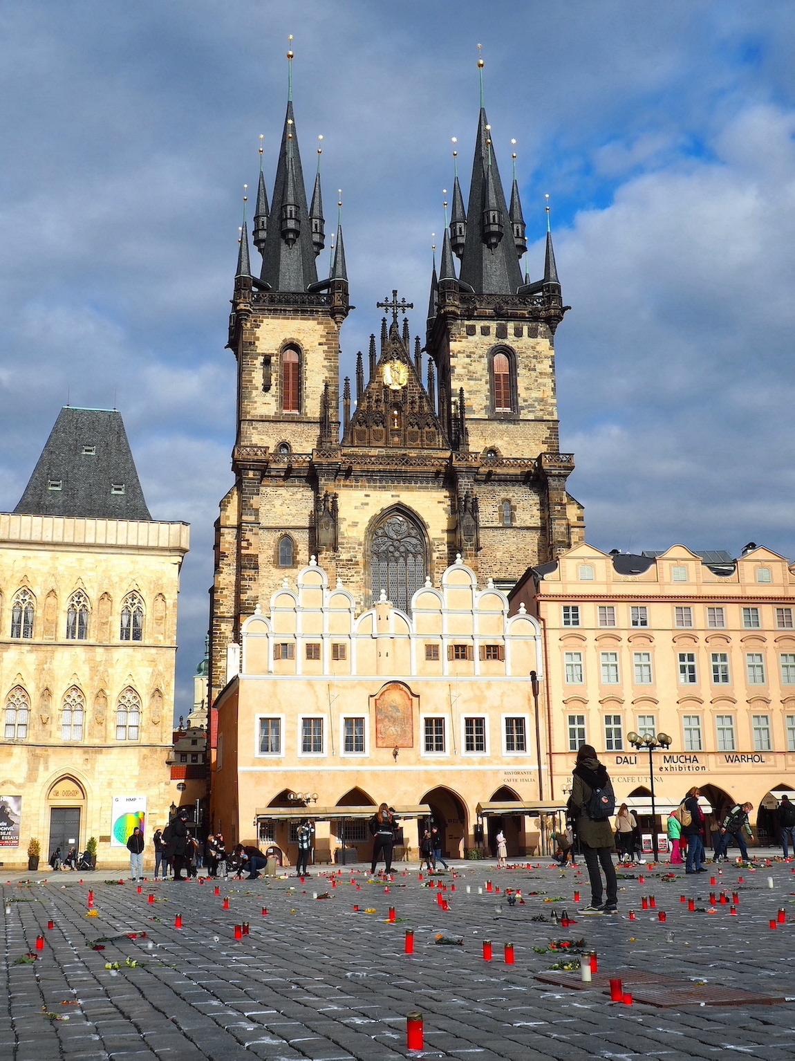 Mémorial victimes coronavirus Prague