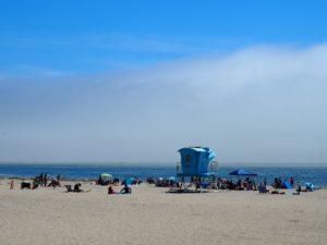 Plage de Santa Cruz en Californie sur la côte centrale californienne