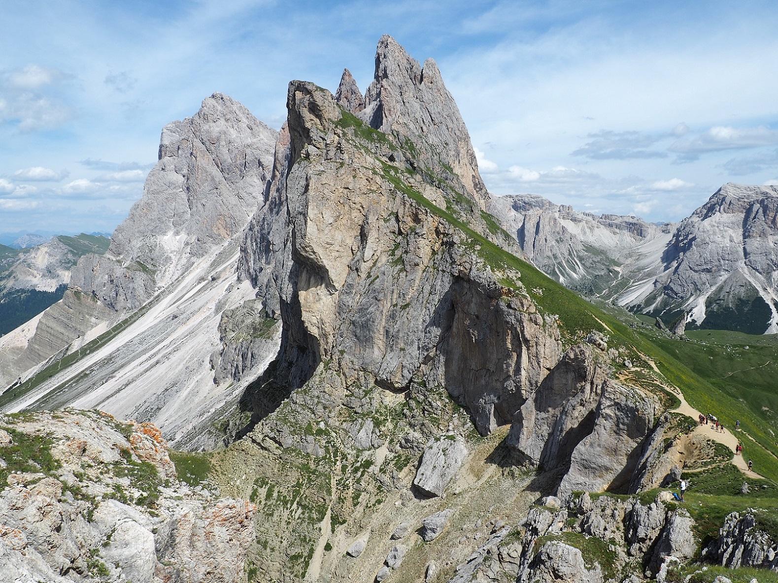 Seceda dans les Dolomites en Italie, Tyrol du Sud