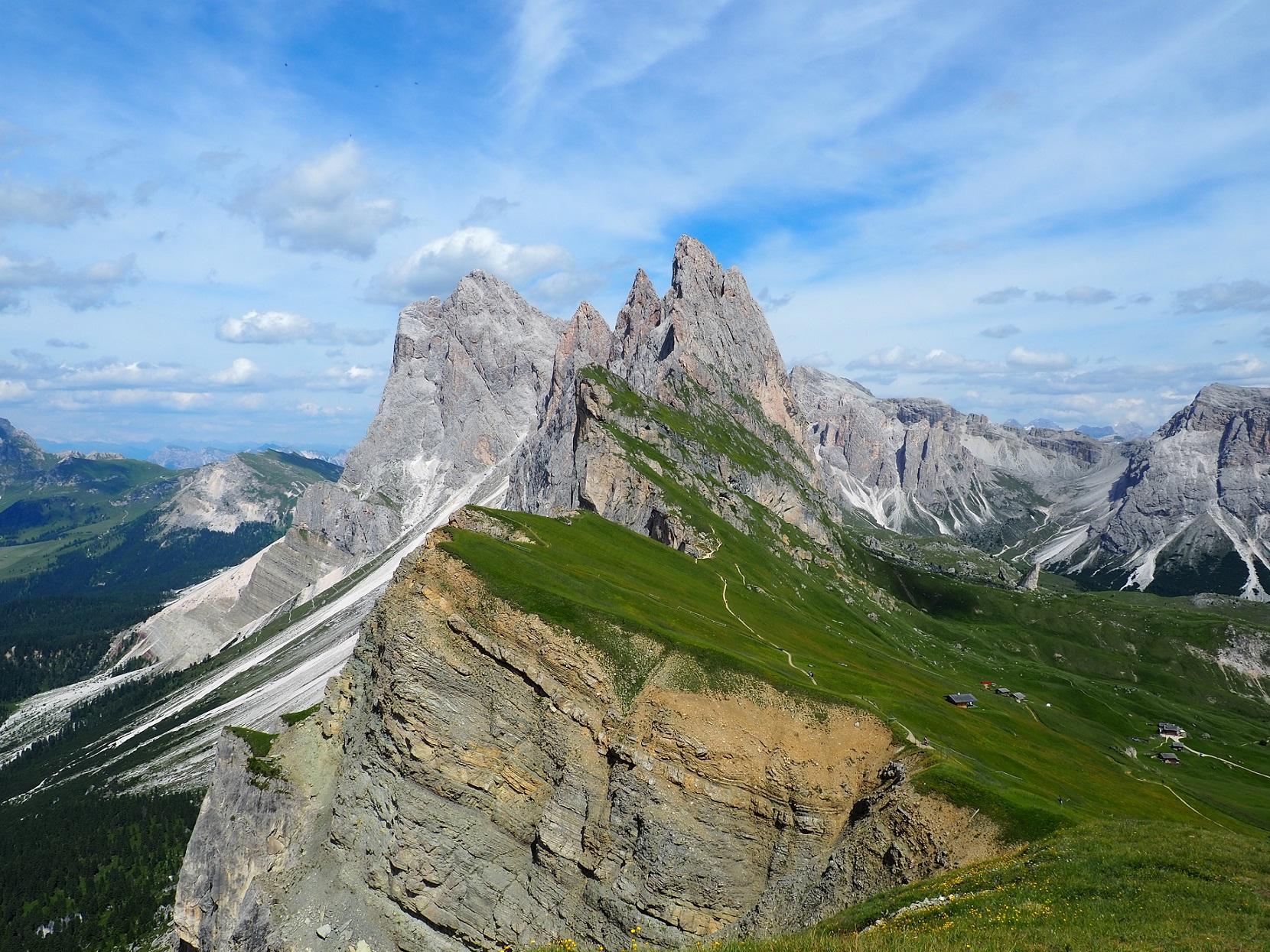 Randonnée dans les Dolomites: Seceda au Tyrol du Sud