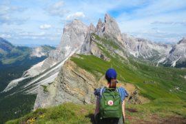 Randonnée d'une journée à Seceda dans les Dolomites au tyrol du Sud en Italie
