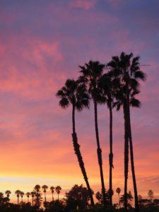 Coucher de soleil à la plage San Elijo; San Diego
