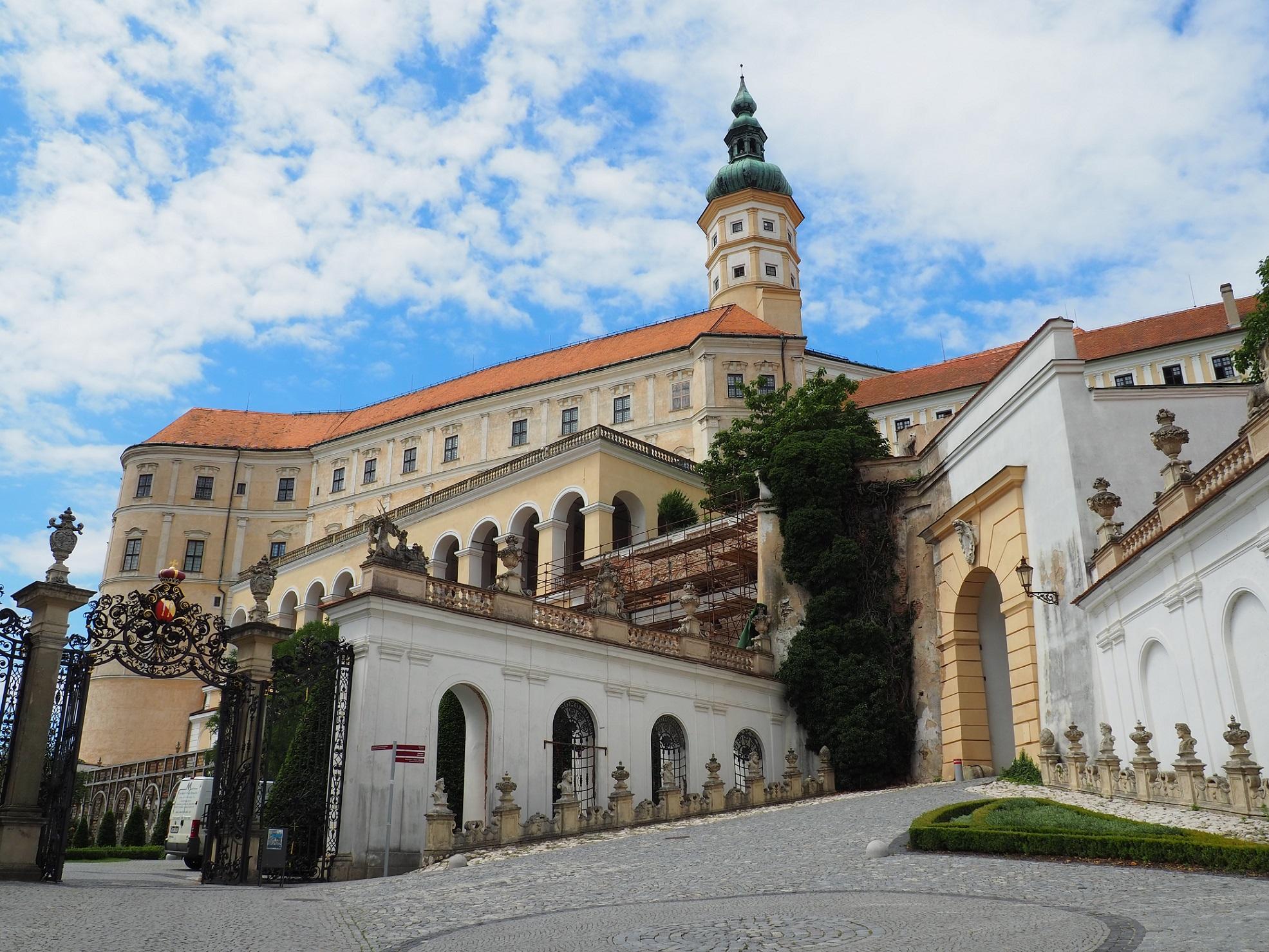 Château à Mikulov en Moravie, République Tchèque