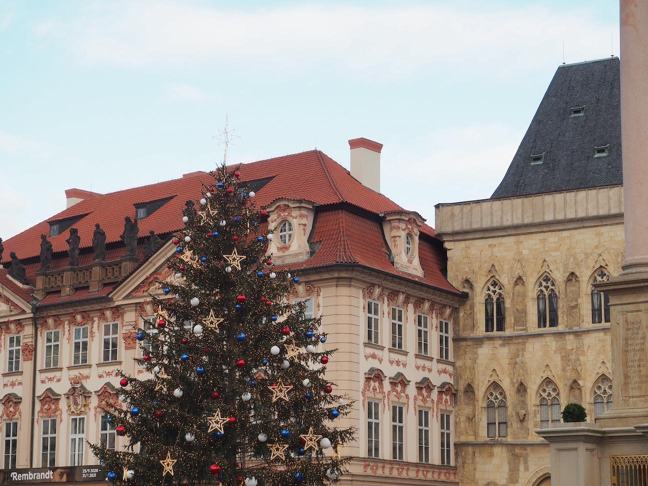 Noël à Prague, le sapin du Old Town Square