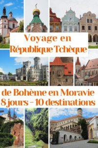 Liste des lieux à visiter en Moravie et en Bohème pour une semaine de voyage en République Tchèque: villes, châteaux et merveilles naturelles