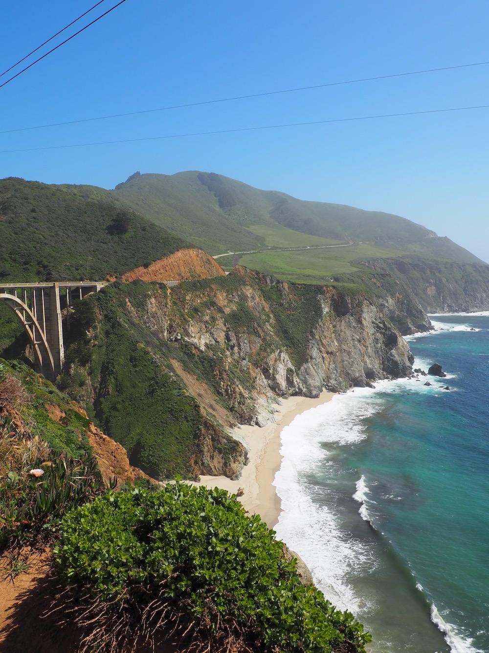 Bixby Creek Bridge à Big Sur sur la Highway 1 en Californie