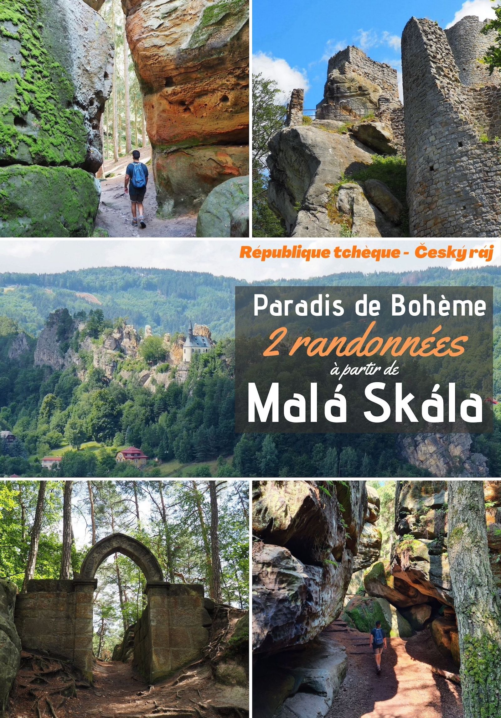 Randonnée au paradis Bohème, Cesky raj, en République Tchèque. Informations pratiques et deux parcours de randonnée depuis Malá Skála