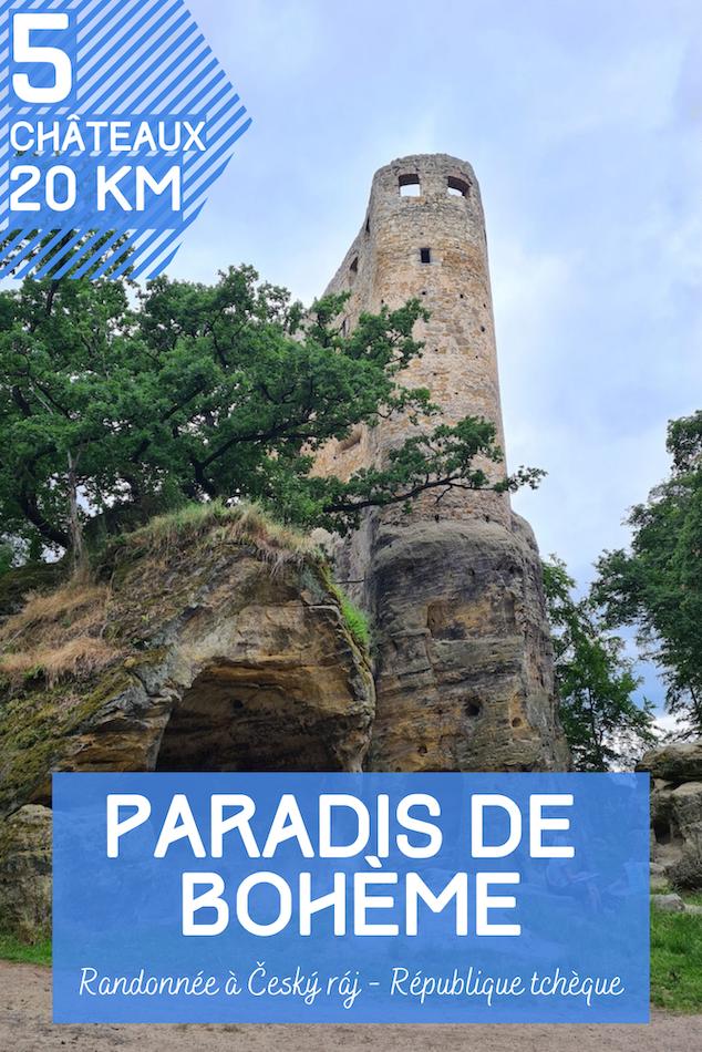 Randonnée au paradis de Bohème en République Tchèque: 20 kilomètres pour découvrir 5 châteaux et les roches de grès typiques de la région