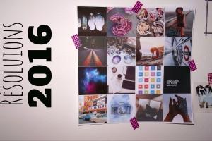 Illustrations représentant mes résolutions pour 2016
