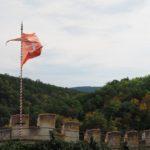 Vue depuis le château de Krivoklát