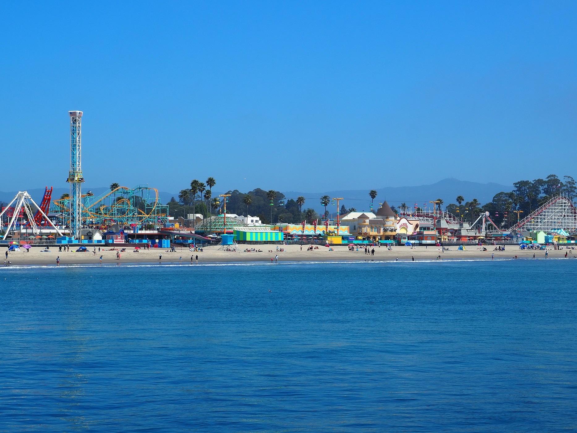Santa Cruz Beach Broadwalk en Californie