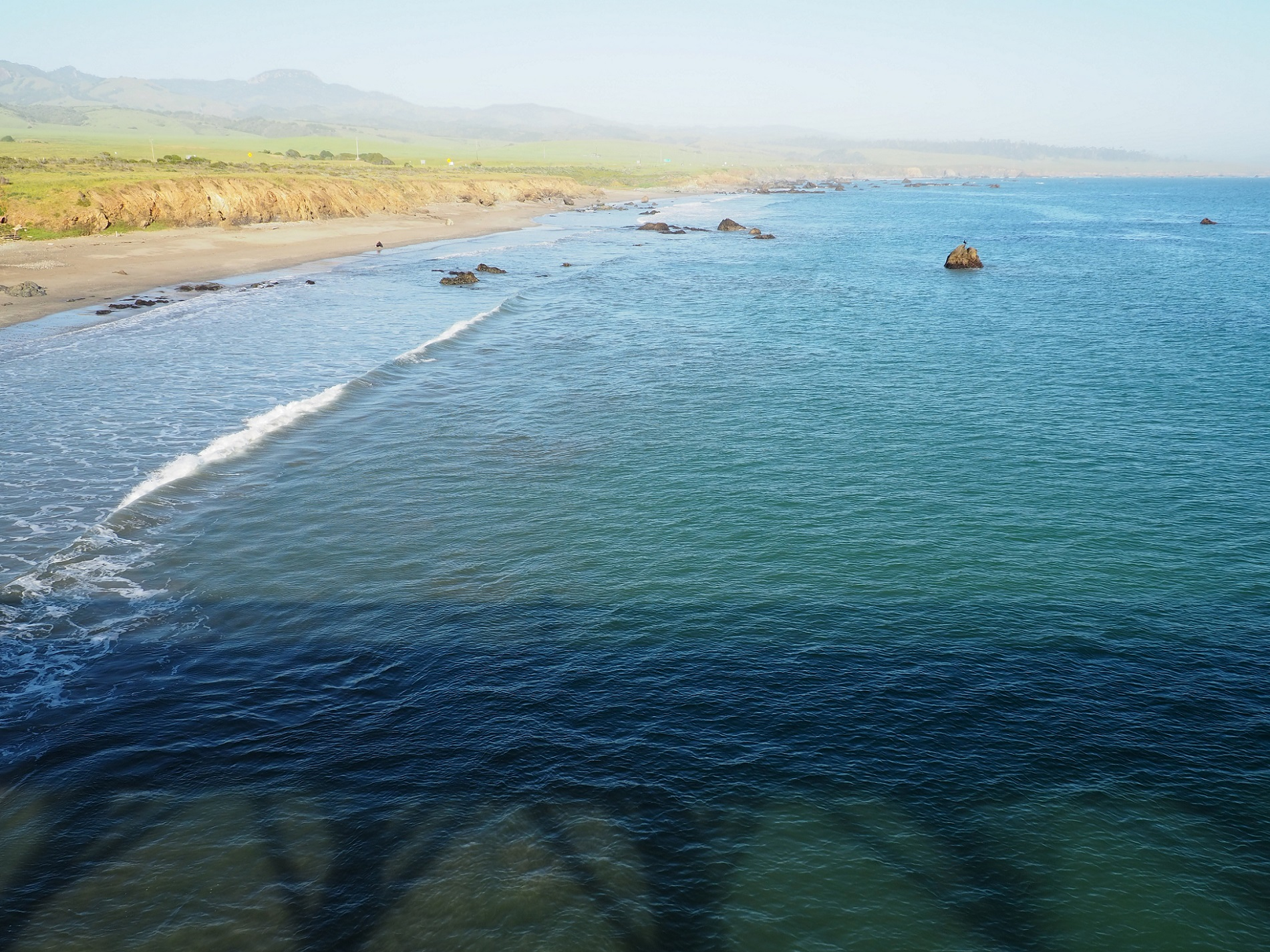 Océan pacifique depuis San Simeon pier en Californie